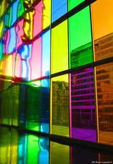 Color space (ISP Bruno Laplante) Tags: urban color building art window architecture montreal hallway reflexion palaisdescongres supershot