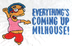 Milhouse embroidery (Totally Severe) Tags: embroidery simpsons milhouse
