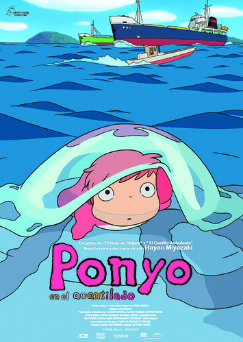 Ponyo en el Acantilado (Poster)