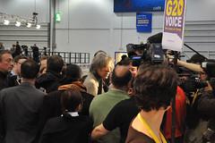 Bob Geldof visits G20Voice desk (webwandering-back.having.recovered.password) Tags: bob carole excel geldof g20 edrich g20summit g20voice moblogdotnet g20buzz