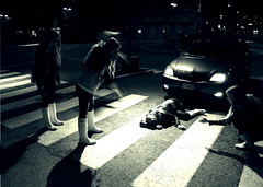 she's gone... (MartinodF) Tags: auto girl car accident multiplicity alterego vero lagomaggiore ragazza incidente arona