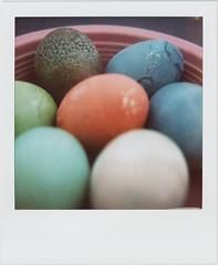 Easter Eggs (futurowoman) Tags: easter polaroid sx70 eggs blend eastereggs sx70blend