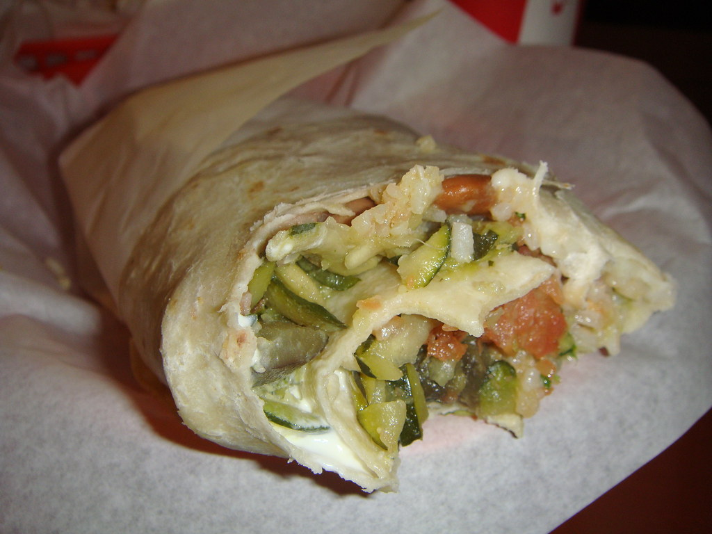 Inside the Super Vegetarian Burrito