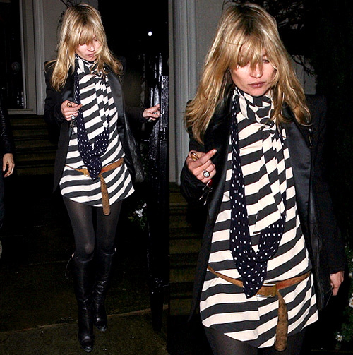 Kate Moss in Striped Dress