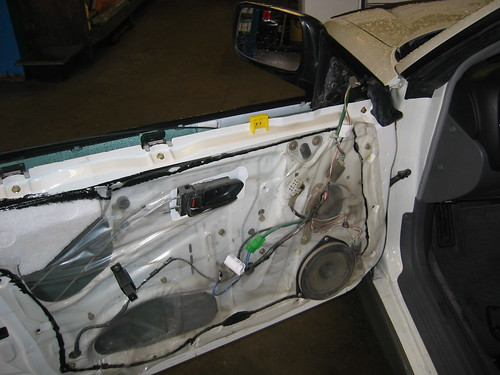 Subaru door panel removed