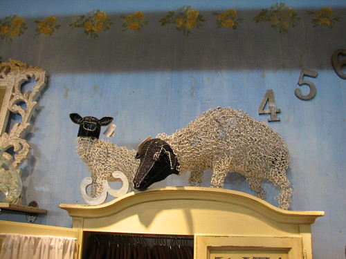 sheep made from wire and beads