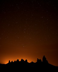 Pinnacles and Stars, Trona, CA.  March 20, 2009 (Robert Pearce Photography) Tags: california light night stars landscape glow desert sierra astrophotography pinnacles lightpollution trona nikond200 robertpearce sierrasolstice robertpearce