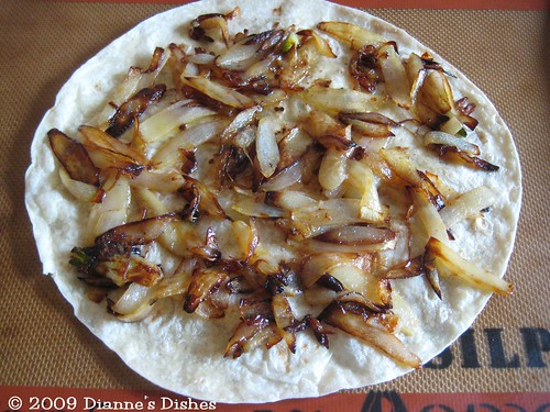 Cheesy Caramelized Onion Quesadillas: Onions