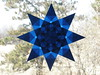 Blue 8 Pointed Star