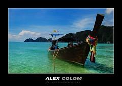 barca tailand (Alex Colom) Tags: naturaleza beach barca playa islas tailand solarena