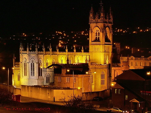 NEWRY CATHERDRAL AT NIGHT