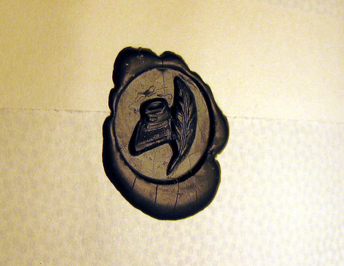 wax seal: quill pen and inkwell
