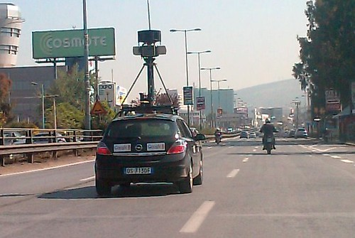 Google Street View car in Athens