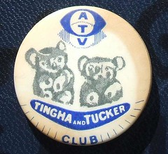 Tingha & Tucker children's club badge, 1960s (RETRO STU) Tags: badge atv 1960s tinghatucker children'sclub associatedtelevision jeanmorton regwatson