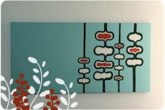 painting (ashleyinzer) Tags: blue red modern painting aqua shapes wallart canvas acrylics
