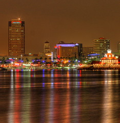 Long Beach at night (kevin dooley) Tags: california ca light color reflection building beach skyline canon hotel book high colorful long downtown shine dynamic mary vivid queen deck reflective range hdr 40d aplusphoto book0 rememberthatmomentlevel4 rememberthatmomentlevel1 rememberthatmomentlevel2 rememberthatmomentlevel3
