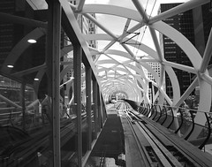 netkous greys (leuntje (on tour)) Tags: bw netherlands station tram denhaag refelections randstadrail beatrixkwartier netkous randstadrailstation
