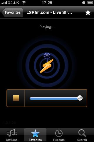 Shoutcast and LSR on the iPhone
