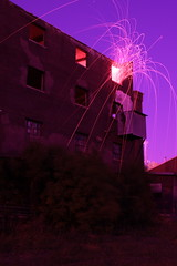 microgravity environment ({ tcb }) Tags: show longexposure nightphotography light urban building abandoned minnesota night fire photography amazing fireworks surreal unreal sparks exploration patience urbex lapp longexposurefireworks lightartperformancephotography