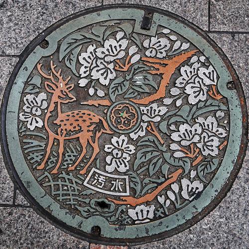Sabrás que estás en Nara por las tapas de las alcantarillas.