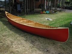 CanotTermine001 (Christian Hudon) Tags: canoe canvas cedar canot toile cdre