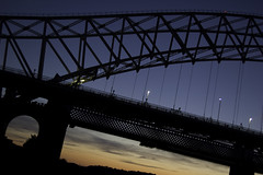 Bridge at Angle (ben.furfie) Tags: bridge sunset angle runcornbridge steelarch