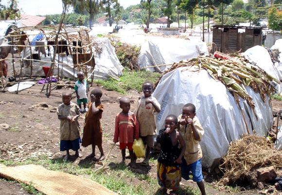 Enfants réfugiés du camp de Kalehe à Bukavu
