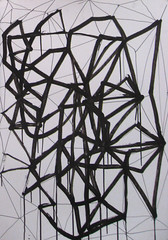 004 (OIPiotr) Tags: geometric triangles ink paper drawing