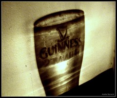 It's Good For You! (Adelle Berwick) Tags: ireland shadow guinness mirrorimage harp pint
