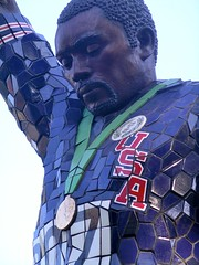 Tommie Smith as a statue