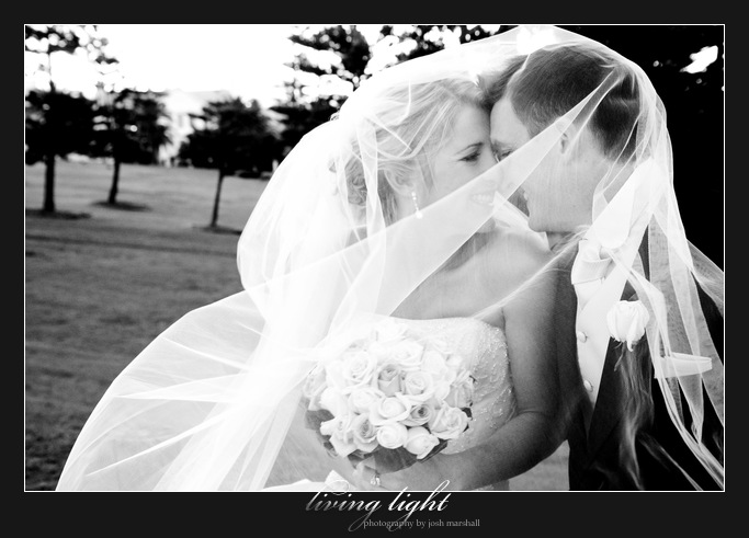 Veiled bride and groom. King Edward Park. Newcastle wedding photography.