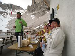 Lunch time in Rif Pisciadù, Sella, Dolomites.