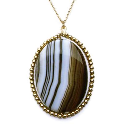 black and gold sardonyx sedona necklace