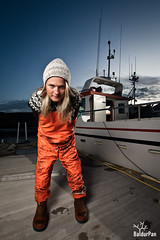 Birna Rn the sailor chick (Baldur Pan) Tags: ocean portrait girl night boat iceland blonde sailor vestfirir westfjords birna rn strobist tlknafjrur sjari sjkvendi