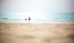 Places We're Trying to Find | 206.365 (Stephan Geyer) Tags: street sea beach water canon relax 50mm sand couple dubai waves gulf candid overexposed 5d canon5d persiangulf 5014 ef50mmf14usm canoneos5d project365 canon5dclassic