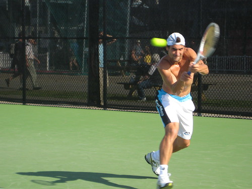 David Ferrer Training at Montreal Rogers Cup 2009
