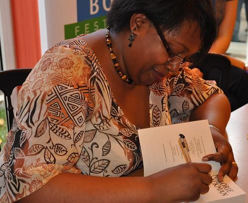 Malorie Blackman signing
