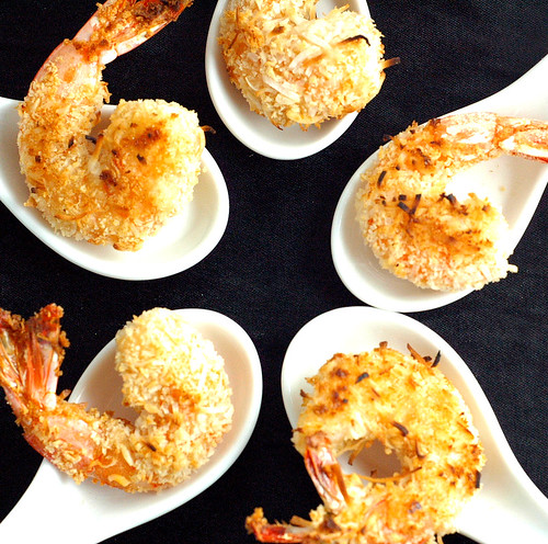 Baked Coconut and Panko Shrimp