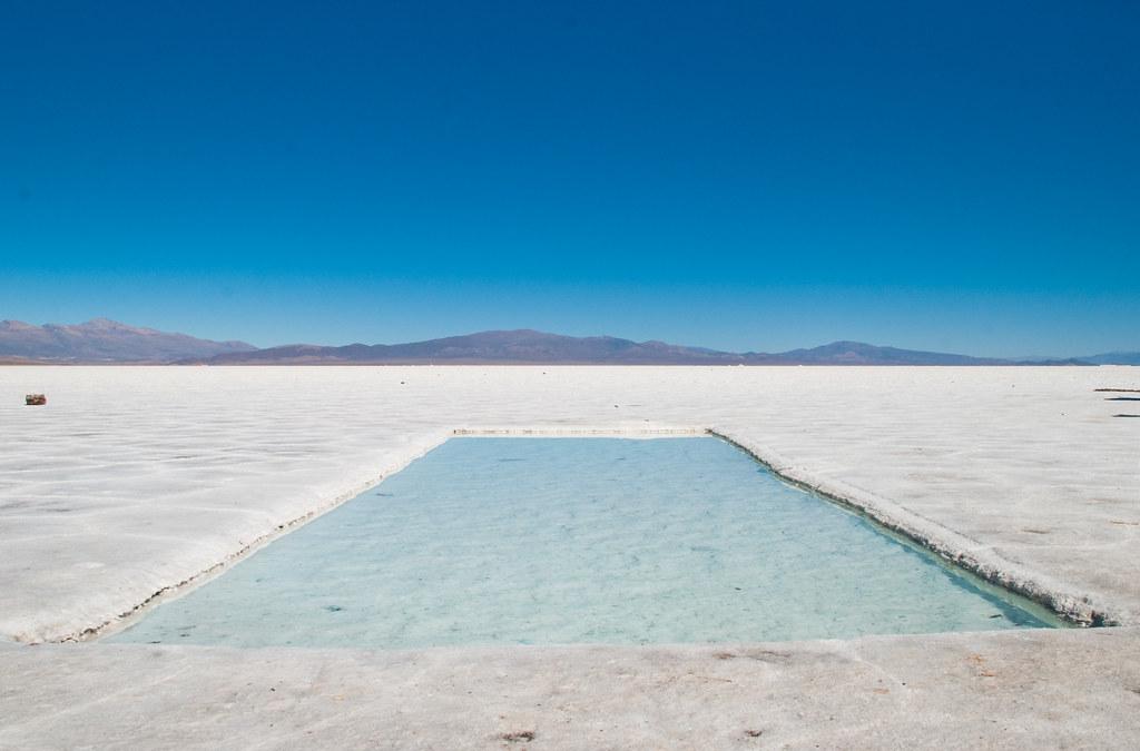 Salinas Grandes in northwest Argentina