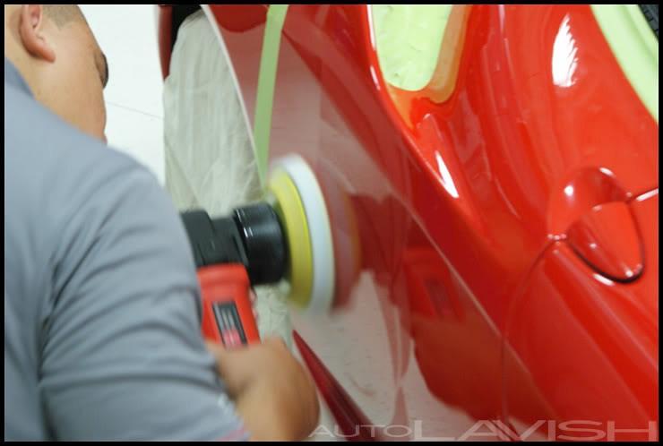 ferrari paint correction 50/50