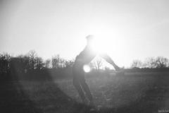 SOHN- Artifice. (Ins Lgf) Tags: light sunset shadow people blackandwhite france field landscape freedom