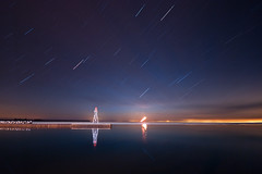 K20D0167 (Bob West) Tags: longexposure nightphotography lighthouse ontario night lakeerie greatlakes nightshots startrails sigma1020mm 7c erieau southwestontario bobwest k20d eastlighthouseerieau