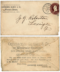 Ouerbacker, Gilmore & Co. (deatonstreet) Tags: street coffee typography kentucky main company letter louisville grocery wholesale gilmore 1888 2centstamp ouerbacker