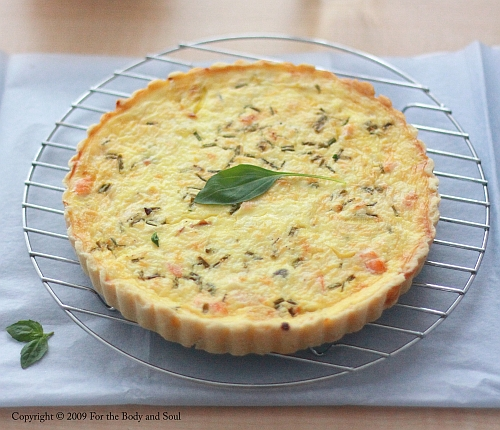 Goat Cheese and Salmon Quiche 3767