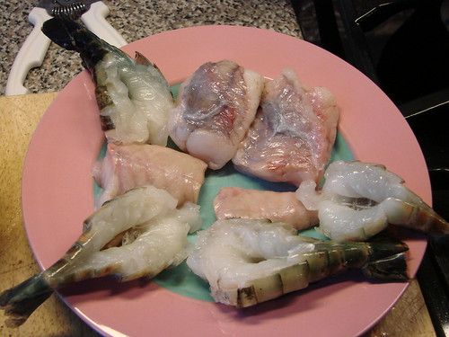 monkfish and shrimp
