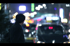 Day after day (James Yeung) Tags: city night lights different bokeh candid korea same seoul streetphoto cinematic gohome  waitingforbus ef135mmf2l  canon5dmarkii