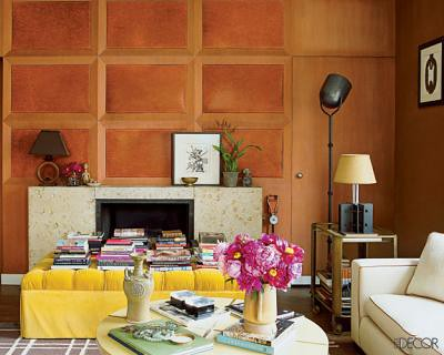 Nate Berkus's living room, featured in Elle Decor,house, interior, interior design