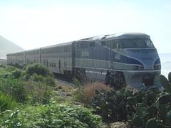 Pacific Surfliner (monroe3743) Tags: california railroad cactus train seacliff amtrak locomotive pacificsurfliner passengertrain f59phi