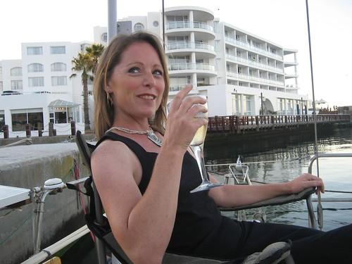 wine on deck