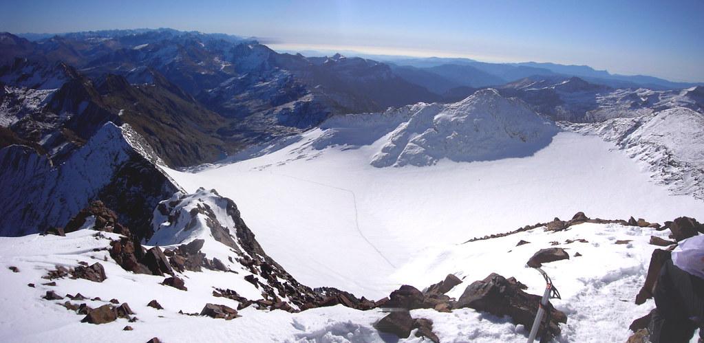Pano Glaciar Vignemale desde la cima